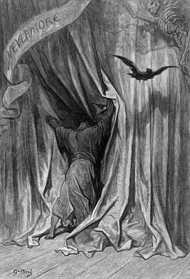 Drawing - Dor� The Raven, 1882 by Granger