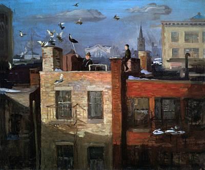 Photograph - Pigeons by John Sloan