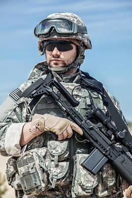 Photograph - Portrait Of United States Airborne by Oleg Zabielin