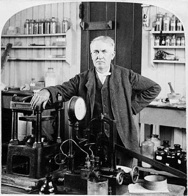 Edison Painting - Thomas Edison (1847-1931) by Granger