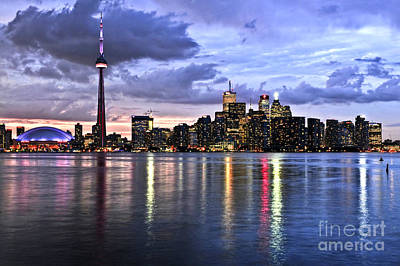 Nightlife Photograph - Toronto Skyline by Elena Elisseeva