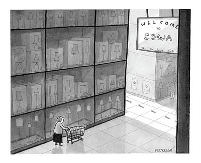 Iowa Drawing - New Yorker October 16th, 2006 by Jason Patterson