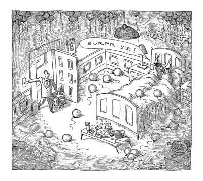 Sleeping Drawing - Captionless by John O'Brien
