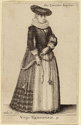 Virgo Drawing - Wenceslaus Hollar Bohemian, 1607 - 1677 by Quint Lox