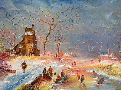 Painting - Winter Landscape by Egidio Graziani