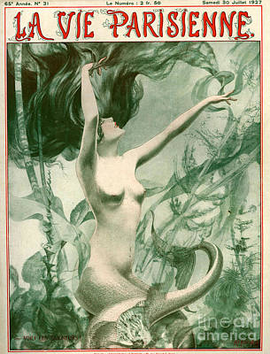 Mermaids Drawing - 1920s France La Vie Parisienne Magazine by The Advertising Archives