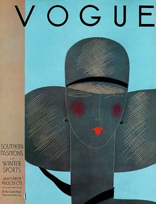 Fashion Photograph - A Vintage Vogue Magazine Cover Of A Woman by Eduardo Garcia Benito