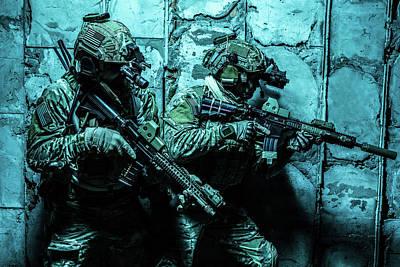 Photograph - Army Ranger In Field Uniforms by Oleg Zabielin