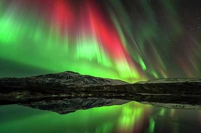 Reflecting Water Photograph - Aurora Borealis by Tommy Eliassen