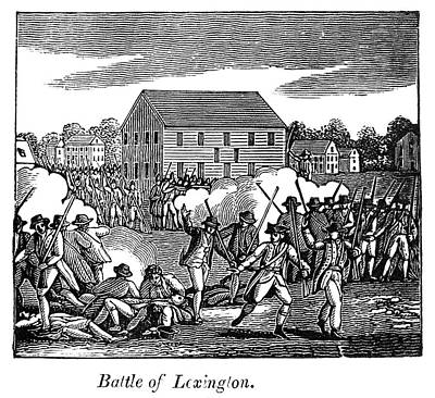 Minuteman Painting - Battle Of Lexington, 1775 by Granger