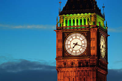 Photograph - Big Ben Closeup by Songquan Deng