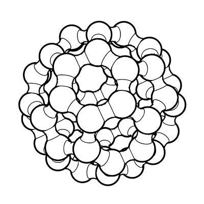 Atom Photograph - Buckminsterfullerene Molecule by Russell Kightley