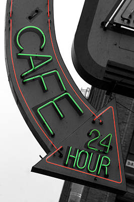 Photograph - 24 Hour Cafe by Daniel Woodrum