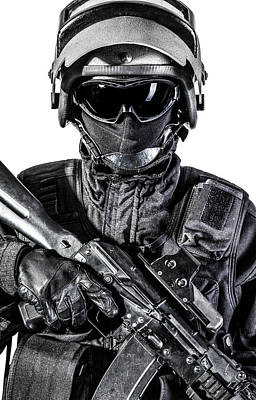Photograph - Russian Special Forces Operator by Oleg Zabielin