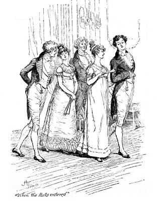 Scene From Pride And Prejudice By Jane Austen Art Print