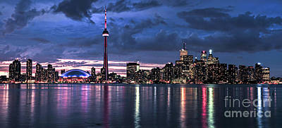Nighttime Photograph - Toronto Skyline by Elena Elisseeva
