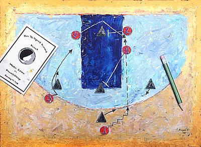 Basketball Abstract Painting - 24 Vs 1-3-1 by John Sheppard