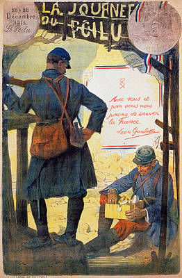 Painting - World War I French Poster by Granger