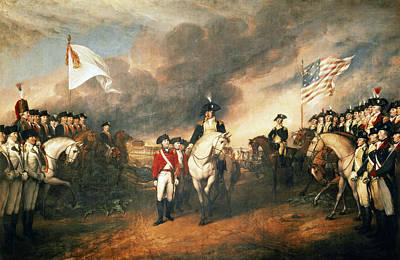 Redcoats Painting - Yorktown Surrender, 1781 by Granger