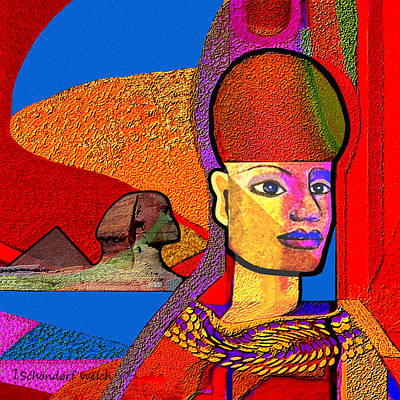 Sphinx Digital Art - 244 - Remembering  Old Egypt   by Irmgard Schoendorf Welch