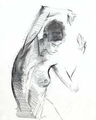 Mature Drawing - Rcnpaintings.com by Chris N Rohrbach