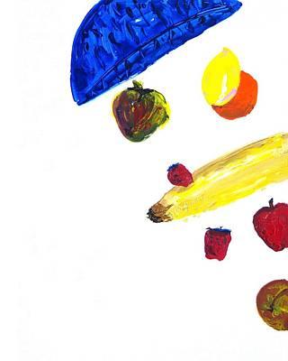 248 Spilled Life With Fruit Art Print by Aaron Aadamson