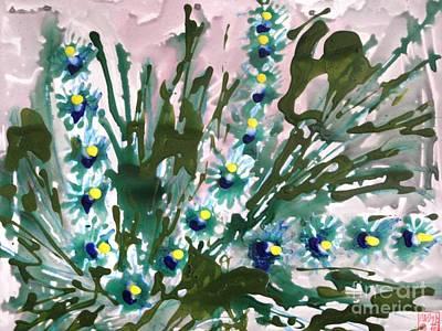 Music Figurative Potraits - Zenmoksha Flowers by Baljit Chadha