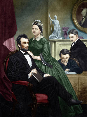 Painting - Abraham Lincoln (1809-1865) by Granger