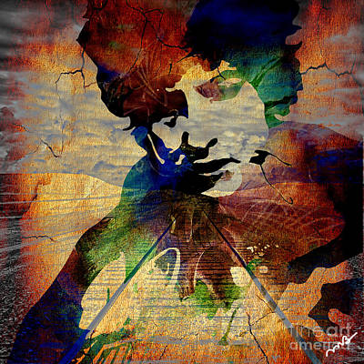 Music Mixed Media - Bob Dylan Collection by Marvin Blaine