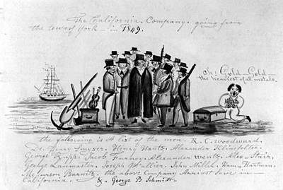 Pennsylvania Drawing - California Gold Rush by Granger