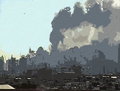 Digital Art - Cutout Tempera Impressions From Tuesday Morning In September by Kosior
