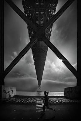 Perspective Wall Art - Photograph - 25 De April  Bridge by Fernando Jorge Gon?alves