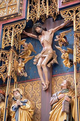 Altar Art Photograph - Europe, Germany, Baden-wurttemberg by Jim Engelbrecht