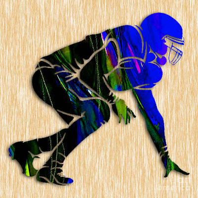 Football Art Print by Marvin Blaine