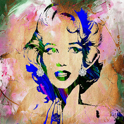 Hip Mixed Media - Marilyn Monroe Diamond Earring Collection by Marvin Blaine