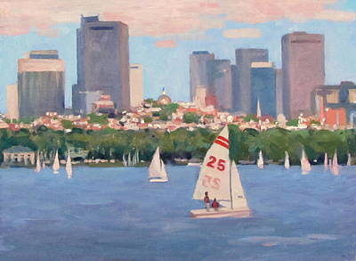 25 On The Charles Print by Dianne Panarelli Miller