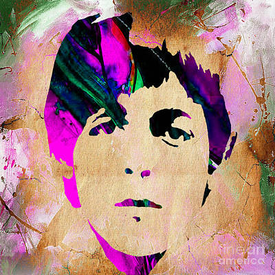Rock Art Mixed Media - Paul Mccartney Collection by Marvin Blaine