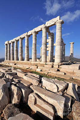 Pillars Photograph - Poseidon Temple by George Atsametakis