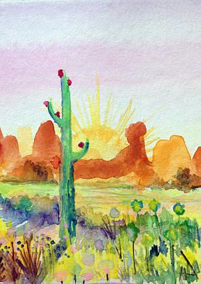 Southwestern Landscape Art Print by Patricia Lazaro