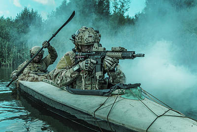Photograph - Special Forces Operators In A Military by Oleg Zabielin