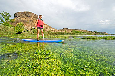 Clouds Rights Managed Images - Standup Paddle Board Royalty-Free Image by Elijah Weber