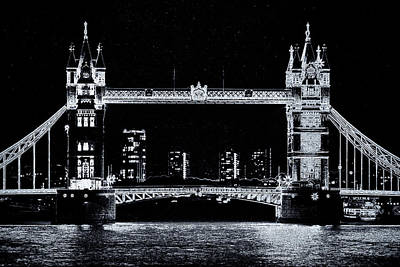 Digital Art - Tower Bridge Art by David Pyatt