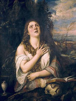 Mary Magdalene Photograph - Ttitia, Tiziano Vecello, Also Called by Everett