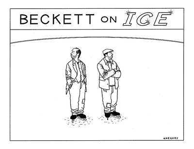 Skate Drawing - Beckett On Ice by Alex Gregory