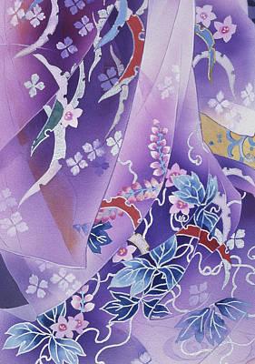 Purple Robe Painting - Skiyu Purple Robe by Haruyo Morita