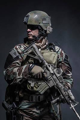 Photograph - U.s. Marine Corps Special Operations by Oleg Zabielin