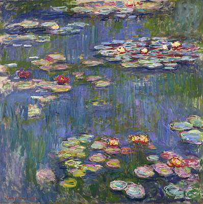 Old Masters Landscape Painting - Water Lilies by Claude Monet