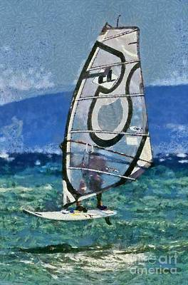 Roaring Red - Windsurfing by George Atsametakis