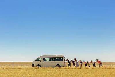Push Photograph - 2.500 Km Around Australia by Gloria Salgado Gispert