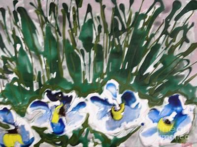 Zenmoksha Flowers Art Print by Baljit Chadha